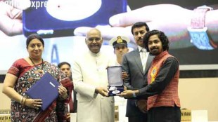 The 65th National Film Awards were held at the Vigyan Bhavan in New Delhi today. The ceremony got marred by controversy after it was announced that President Ram Nath Kovind will not be giving away awards to all the 140 winners. Information & Broadcasting Minister Smriti Irani, Minister of State, Information & Broadcasting Rajyavardhan Singh Rathore and Secretary, Information & Broadcasting Narendra Kumar Sinha handed over the awards in the absence of President Kovind. While Sridevi won the Best Actress award posthumously, Riddhi Sen won the Best Actor award. (Source: President of India/Twitter)