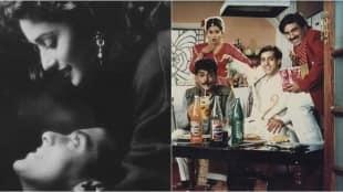 Film star Madhuri Dixit and Salman Khan in film HUM AAPKE HAIN KAUN. Express archive photo *** Local Caption *** Film star Madhuri Dixit and Salman Khan in film HUM AAPKE HAIN KAUN. Express archive photo
