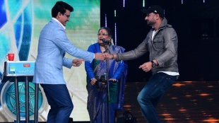 Sourav Ganguly Ashwin Harbhajan Sehwag Kaif Zee Bangla Dadagiri special episode pics