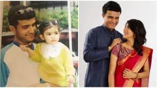 Sana Ganguly with Sourav Ganguly