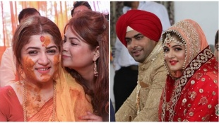 Actress Srabanti Chatterjee shares her Haldi ceremony pics on her first anniversary