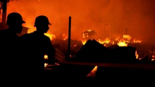 Fire occured in a home at nimtala ghat street