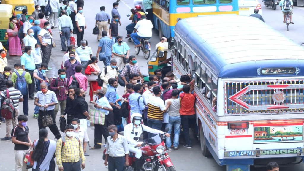 owners of private buses said that it will be reduced from tomorrow at kolkata and bengal