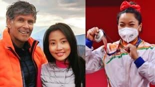 Milind Soman, Ankita Konwar, Mirabai Chanu, bollywood, Tokyo Olympics, মিলিন্দ সোমান, অঙ্কিতা কোনওয়ার, মীরাবাঈ চানু, bengali new today