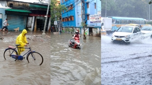 kolkata waterlogged after 4 hours of rainfall 4 august 2021