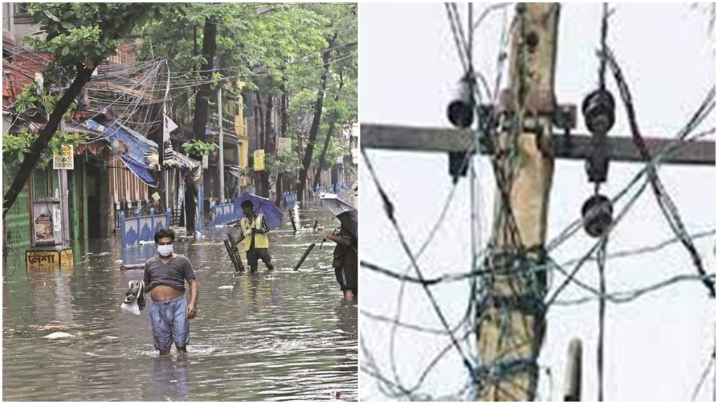 From last sunday nine are died due to electricude in bengal