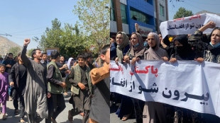 Taliban fire shots to disperse anti Pakistan rally in Kabul