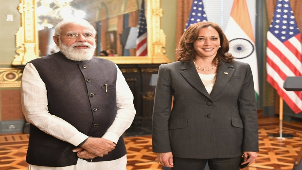 PM Modi holds first face-to-face meeting with US Vice President Kamala Harris