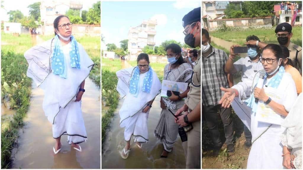 Mamata Banerjee visits Flood affected area