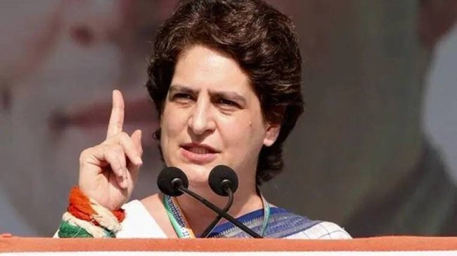 UP polls 2022 Cong promises smartphones for girl students waiving off farmers debts