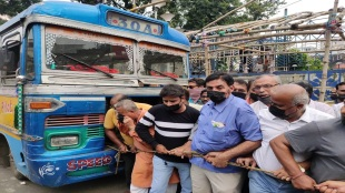 West Bengal bus owners and Tmc supporters protest against price hike of petrol, diesel at kolkata