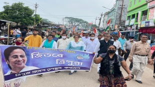 Attack on TMCs campaign at tripuras amtoli areas